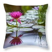 Lily Pad Dreams Throw Pillow