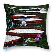 Lily Pad Highlights Throw Pillow