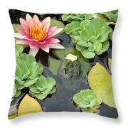 Lily Pad Lunch Throw Pillow