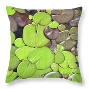 Lily Pads #1 Throw Pillow