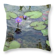 Lily Pads And Koi 1 Throw Pillow