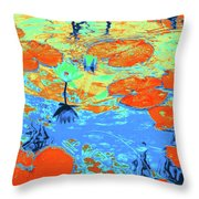 Lily Pads And Koi 10 Throw Pillow