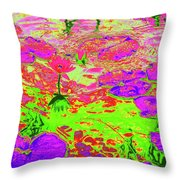 Lily Pads And Koi 12 Throw Pillow