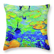 Lily Pads And Koi 14 Throw Pillow