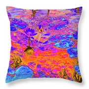 Lily Pads And Koi 17 Throw Pillow