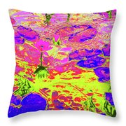 Lily Pads And Koi 18 Throw Pillow