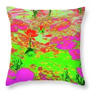 Lily Pads And Koi 19 Throw Pillow