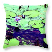 Lily Pads And Koi 2 Throw Pillow