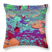 Lily Pads And Koi 24 Throw Pillow