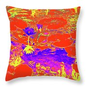 Lily Pads And Koi 29 Throw Pillow