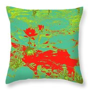 Lily Pads And Koi 33 Throw Pillow