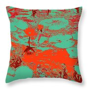 Lily Pads And Koi 35 Throw Pillow