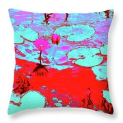 Lily Pads And Koi 7 Throw Pillow