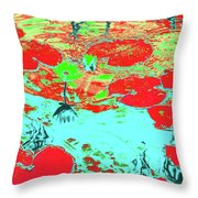 Lily Pads And Koi 8 Throw Pillow