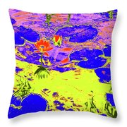 Lily Pads And Koi 9 Throw Pillow