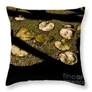 Lily Pads And Shadows Throw Pillow