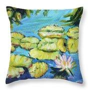 Lily Pads Mo Botanical Garden I Throw Pillow
