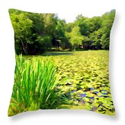 Lily Pond #4 Throw Pillow