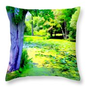 Lily Pond #5 Throw Pillow