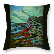 Lily Pond Abstract Throw Pillow