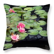Lily Pond Monet Throw Pillow