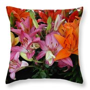 Lily Radiance Throw Pillow