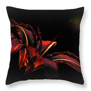 Lily Red-black  Throw Pillow