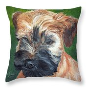 Lily, Soft Coated Wheaten Puppy Throw Pillow