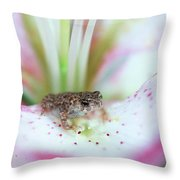 Lily Toad Throw Pillow