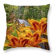 Lily Trail Throw Pillow