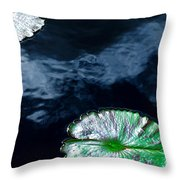 Lilypads And Sky Reflections Throw Pillow