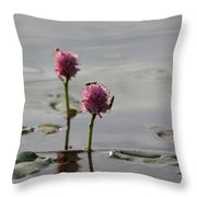 Lilypads And Wasps Throw Pillow