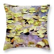 Lilypads W C Throw Pillow