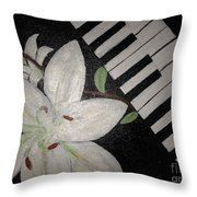 Lily's Piano Throw Pillow