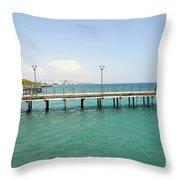 Limassol Marina  Throw Pillow