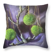 Lime And Violet In Harmony Throw Pillow