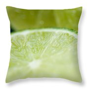 Lime Cut Throw Pillow