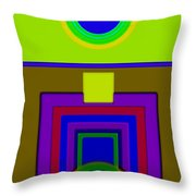 Lime Driver Throw Pillow