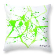 Lime Green Study Throw Pillow