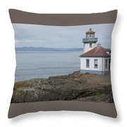 Lime Kiln Lighthouse Panorama Throw Pillow