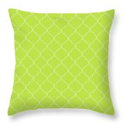 Lime Punch Quatrefoil Throw Pillow