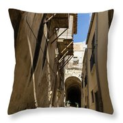 Limestone And Sharp Shadows - Old Town Noto Sicily Italy Throw Pillow