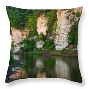 Limestone Bluffs Along Upper Iowa Throw Pillow
