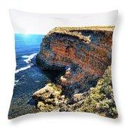 Limestone Cliff Throw Pillow