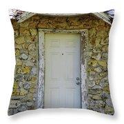 Limestone House Door Throw Pillow