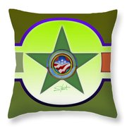 Limey Landscape Throw Pillow