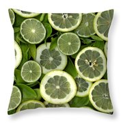 Limons Throw Pillow by Christian Slanec