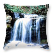 Lin Camp Branch Waterfall 1983 Throw Pillow