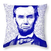 Lincoln Abstract Blue Throw Pillow