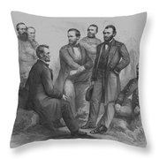 Lincoln And His Generals Throw Pillow